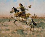 Riding a Whirl-Wind by Kim Mackey part of our Western Gallery